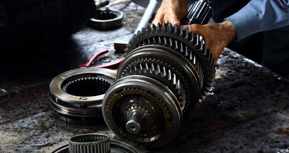 transmission taken apart